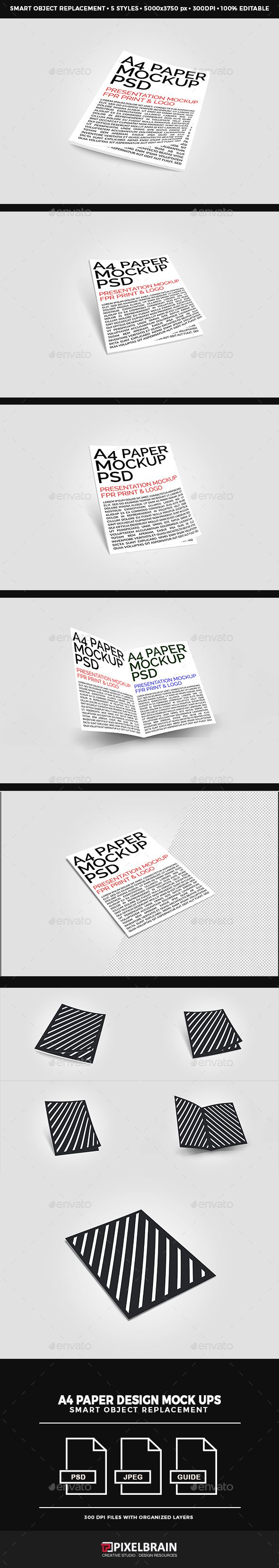 A4 Paper / Poster / #Flyer #Mockup #Design - Posters Print Download here:  https://graphicriver.net/item/a4-paper-poster-flyer-mockup-design/16700216?ref=alena994