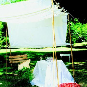 Les 25 meilleures id es de la cat gorie rideaux de bambou - Petit jardin blanc le havre ...
