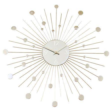Found it at AllModern - Galaxy Clock in Silverhttp://www.allmodern.com/deals-and-design-ideas/p/Best-Selling-Accents%2C-Art-%2B-More-Galaxy-Clock-in-Silver~ASH1475~E15134.html?refid=SBP.rBAZEVLcOLUeSwdVK1InAuX5OjQgZ0MFplM7UwU_QBM