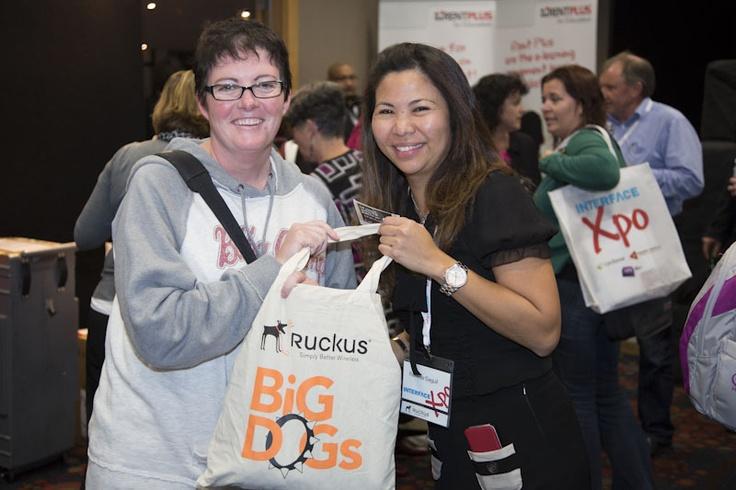 Ruckus goodie bag winner with Renilda Seguil.