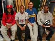 Ryan Babel - played for Ajax, Liverpool, TSG 1899 Hoffenheim and the Dutch National team- and the MONTA Street Legends Orry, Dju dju and Wassi. #celebrities #monta #legends #RyanBabel #streetsoccer #streetfootball #Ajax #Liverpool  Monta Soccer op MONTA & Celebrities