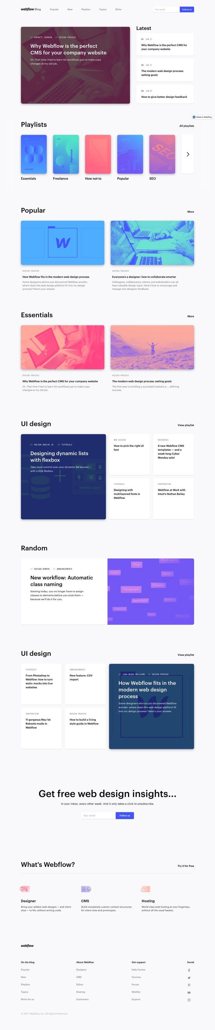 Responsive web design blog   Webflow