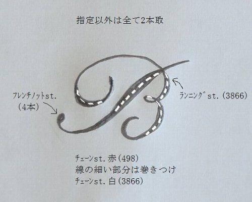 アルファベットの刺繍Ⅰの作り方|刺繍|編み物・手芸・ソーイング ... 図案