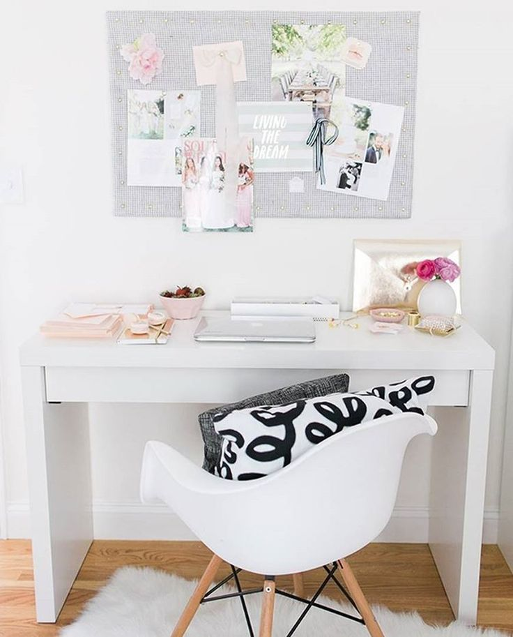 Cute way to have your desk space...