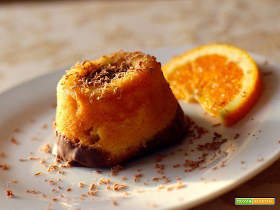 Tortino all'arancia e cioccolato  #ricette #food #recipes