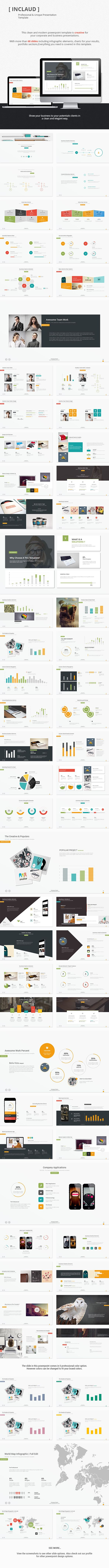 Claude - Clean & Professional Presentation Template #presentation #presentationtemplate Download: http://graphicriver.net/item/claude-clean-professional-template/10137105?ref=ksioks