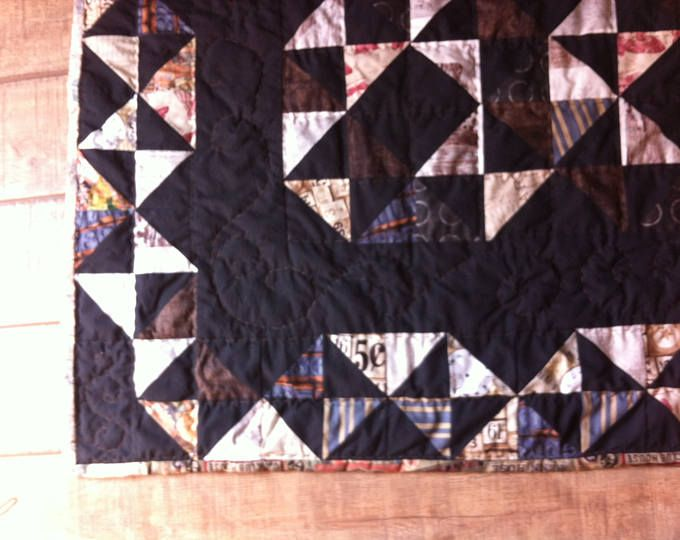 200$ unique patchwork quilt from babushkasquilts on Etsy