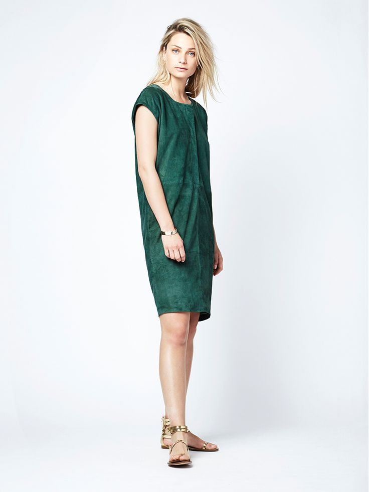 Beaumont suede dress Shop the new season collection online