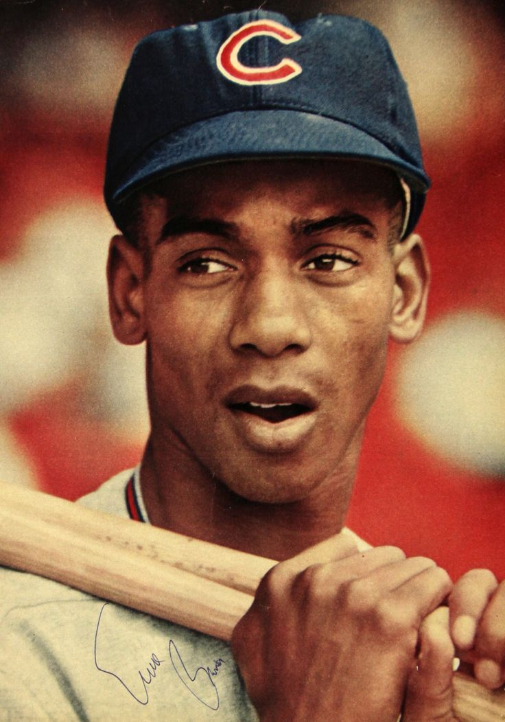 """September 17, 1953 Ernie Banks becomes the first African American baseball player to wear a Chicago Cubs uniform. Banks is also quick to say """"Let's play two!"""" Banks will be the Cubs' outstanding shortstop from 1954 to 1960. In 1961 he will be moved to left field, then to first base, where he will spend the rest of his career."""