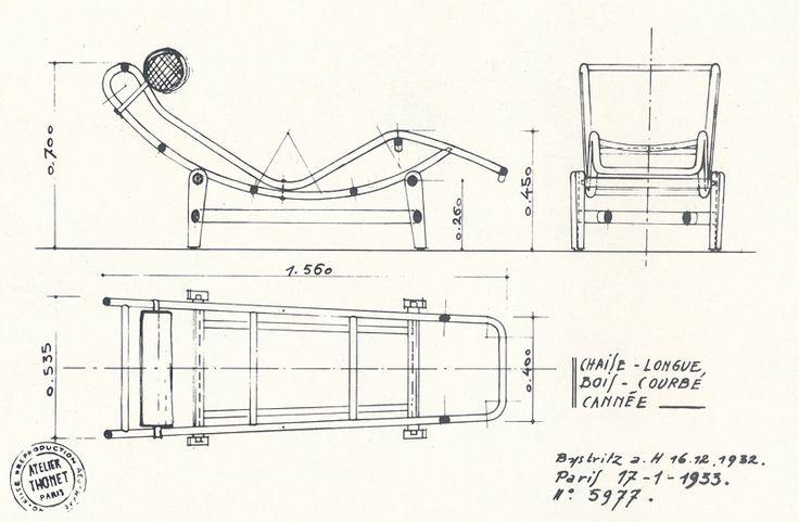 Шезлонг LC4 Chaise Longue Le Corbusier Ле Корбюзье 1928 lc4 - designer mobel liegestuhl curt bernhard