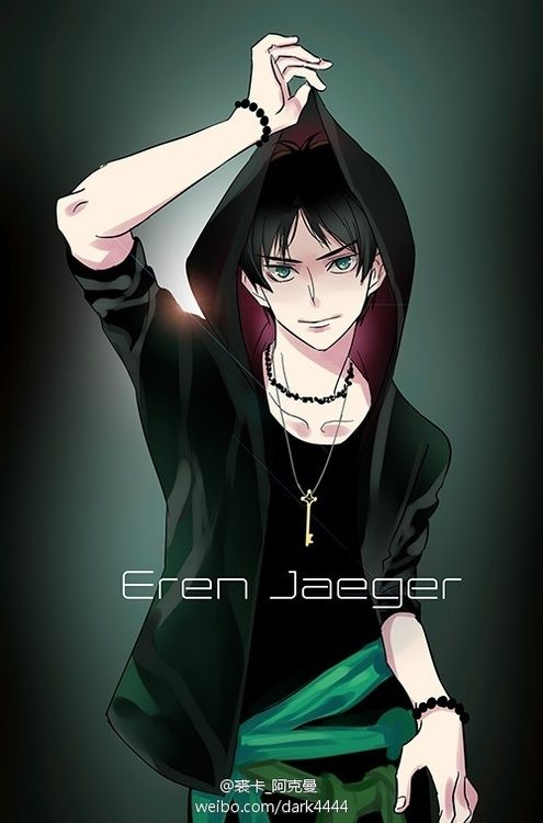 http://www.weibo.com/dark4444 Pretty cool image of Eren Jaeger