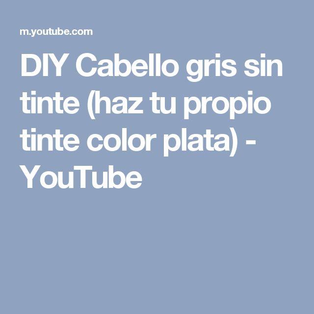 DIY Cabello gris sin tinte (haz tu propio tinte color plata) - YouTube