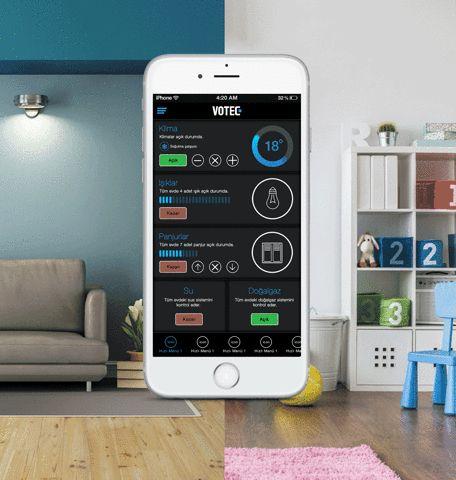 Votec Akıllı Ev Teknolojileri, sunduğu aydınlatma sistemiyle size evinizdeki ışıkları tek dokunuşla kapatma imkanı sağlar.