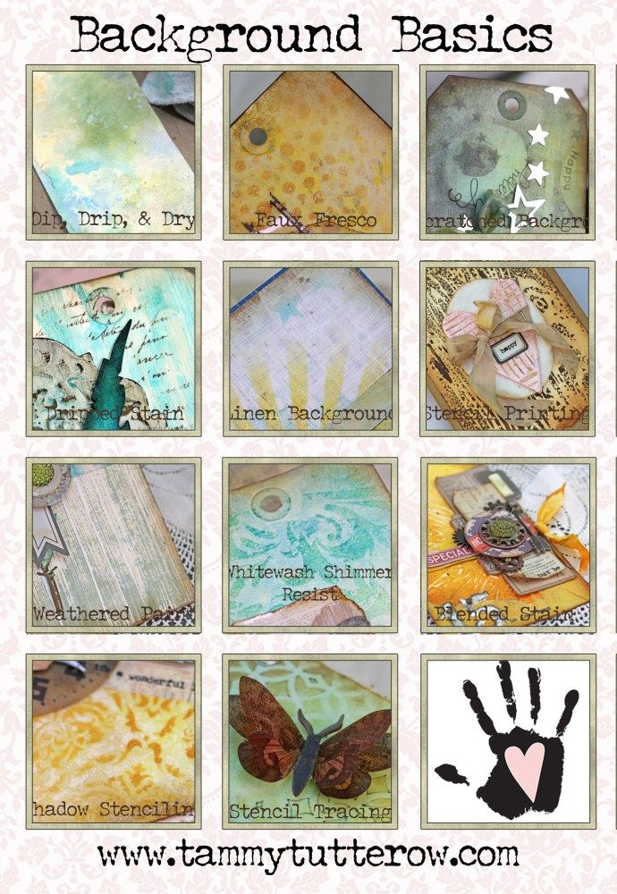 11 Distress Ink and Paint Mixed Media Art Background Techniques Online Class…