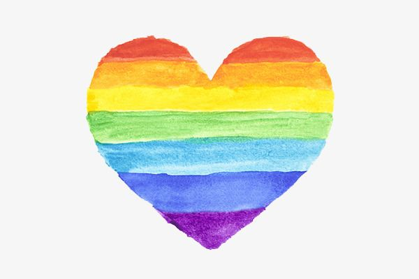 Colorful Heart Rainbow Hand Painted Watercolor Png And Vector With Transparent Background For Free Download Watercolor Heart Rainbow Drawing Rainbow Art