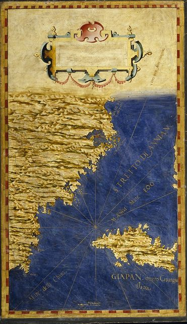 Shore of China and Japan, Egnazio Danti, 1565-1575, Room of the Maps, Italian cartography, XVI century. Zoom it on http://www.google.com/culturalinstitute/project/art-project?hl=it