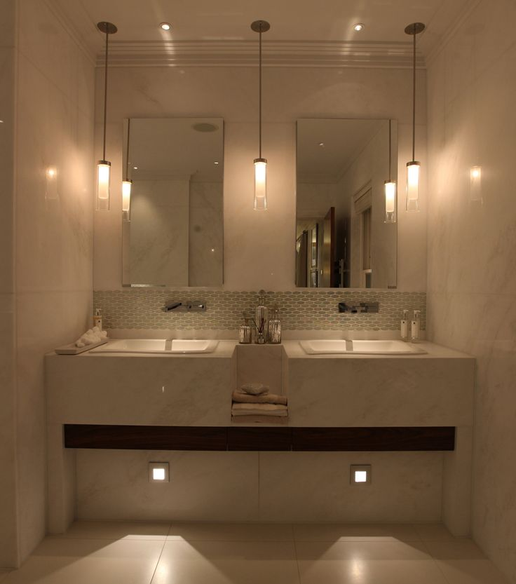 107 best images about bathroom lighting on pinterest for Bathroom lighting ideas