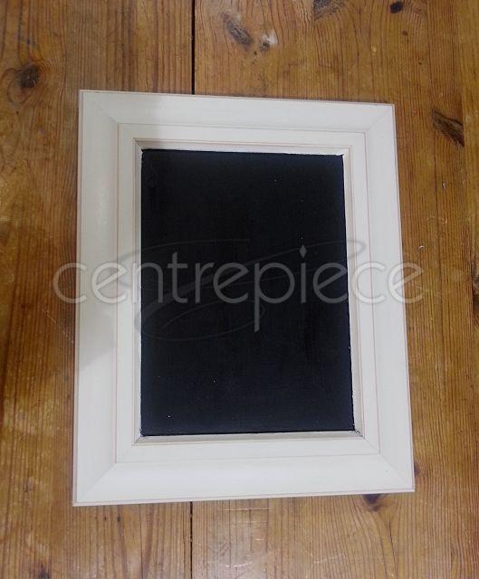 Chalkboard Sign White Fr Plain H:28cm