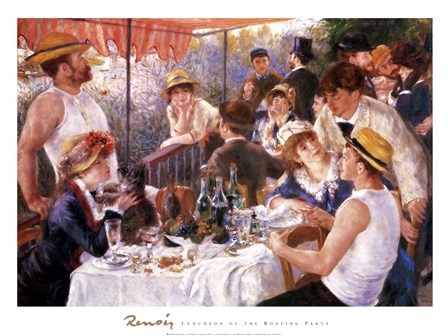 Luncheon of the Boating Party by Pierre-Auguste Renoir art print