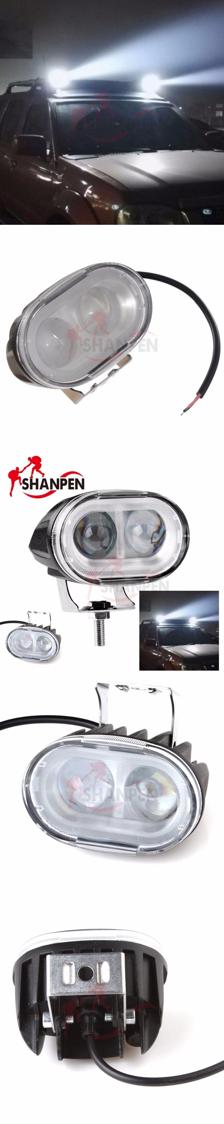 Car headlights and spotlights  Vehicle Off-road 20W 2000LM 9V-30V Car LED Work Light Driving Lamp 4WD ATV SUV
