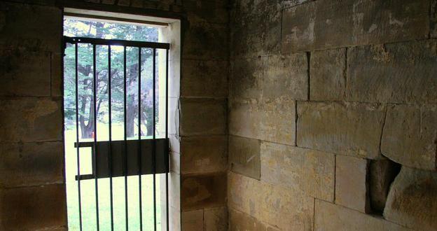 The Penitentiary Building on Port Arthur, a former convict settlement in Tasmania, Australia.