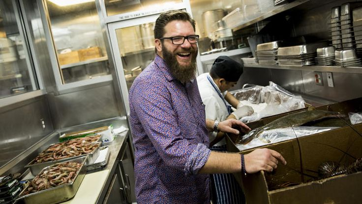 Dock to Dish: Michael Cimarusti, co-owner and chef at Providence, surveys the day's fresh fish delivery from the p