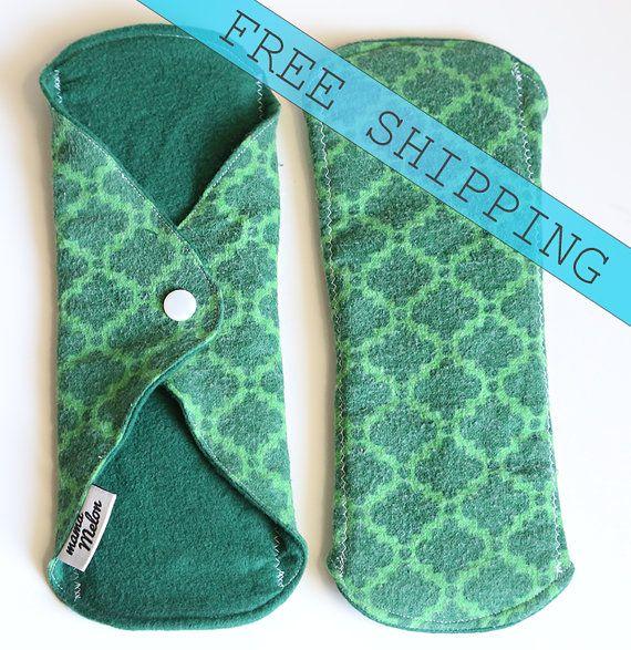 9 Light Flow Cloth Pads Washable Menstrual Pad Thin
