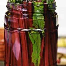 Beet petioles pickled.