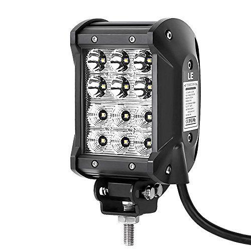[Verbesserte Version] LE 36W 2520lm LED Zusatzscheinwerfer Vier Reihen, LED Arbeitsscheinwerfer f�r Gel�ndewagen ATV SUV Jeep Boot, LED Offroad Flutlicht Reflektor Scheinwerfer Arbeitslicht, LED Nebelscheinwerfer