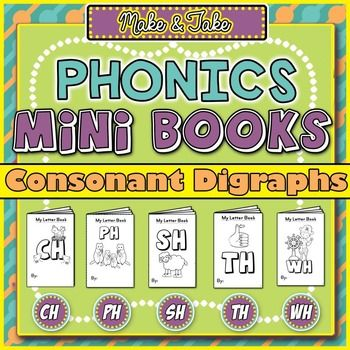 Make & Take Phonics Mini Books: Consonant Digraphs Freebie