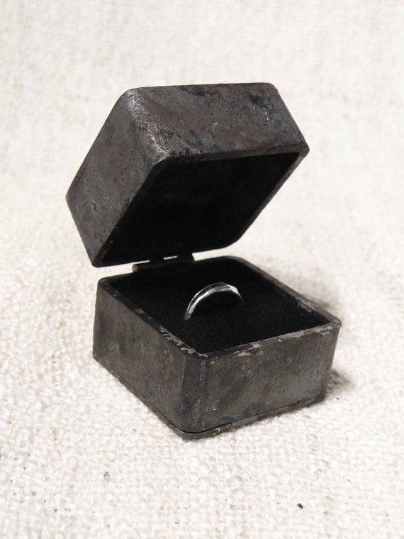 Proposal engagement ring box  iron wedding ring by JesseBlauwhof