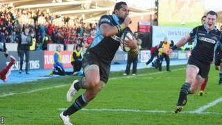 European Champions Cup: Glasgow Warriors 43-6 Scarlets - BBC Sport