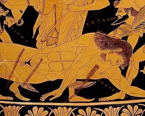 Book XVI The death of Sarpedon ~Euphronios krater  ~thaumazein: THE DEATH OF…