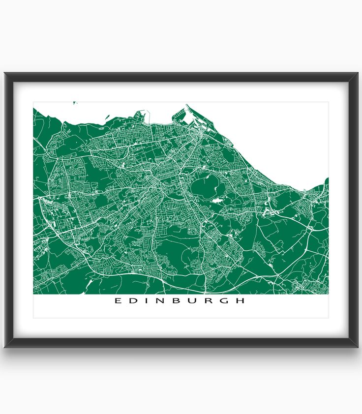 Edinburgh, #Scotland (UK)  Modern, graphic and eye-catching. #Edinburgh #map print with a white street network design. Perfect for your #travel wall or to add to your existing #home decor.