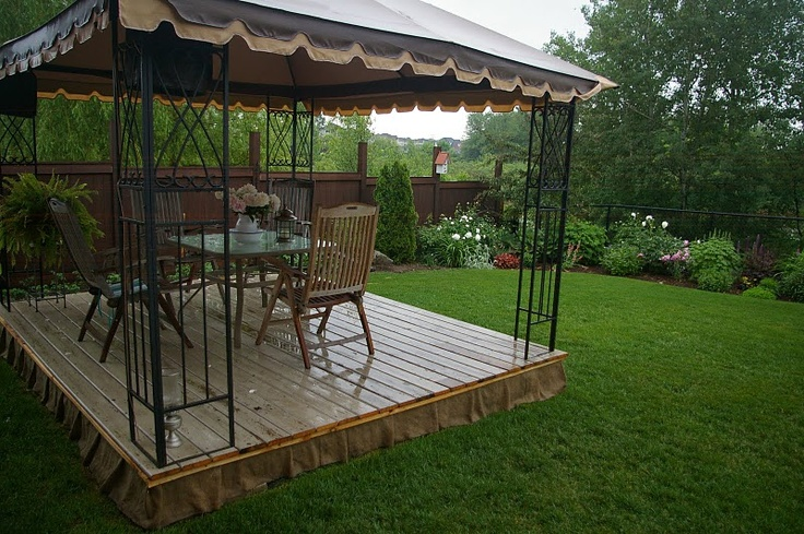 My house has no deck or patio, but a platform deck in my yard? That could be excessively cool.