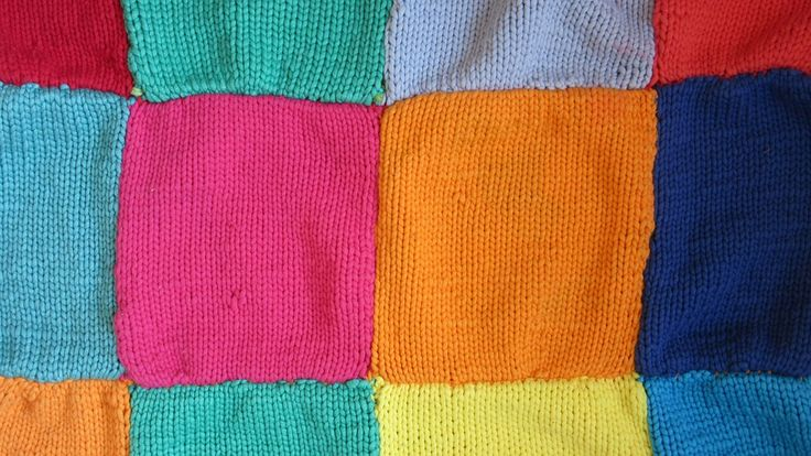 Wool, Blanket, Squares, Colorful, Color, Knitted