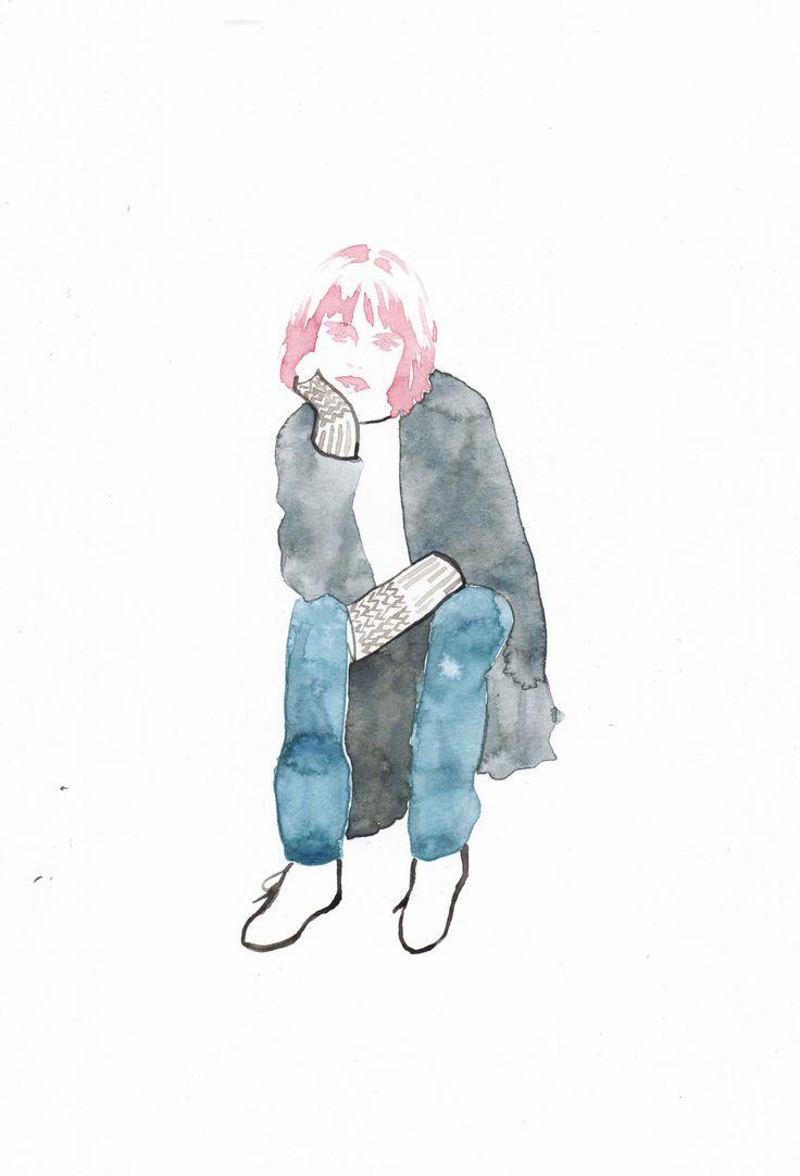 fashion illustraion illustration by Sookie Shen