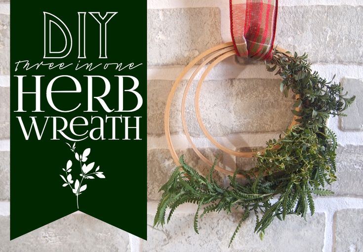DIY 3-in-1 Herb Wreath That Also Smells Great - embroidery hoops as a base