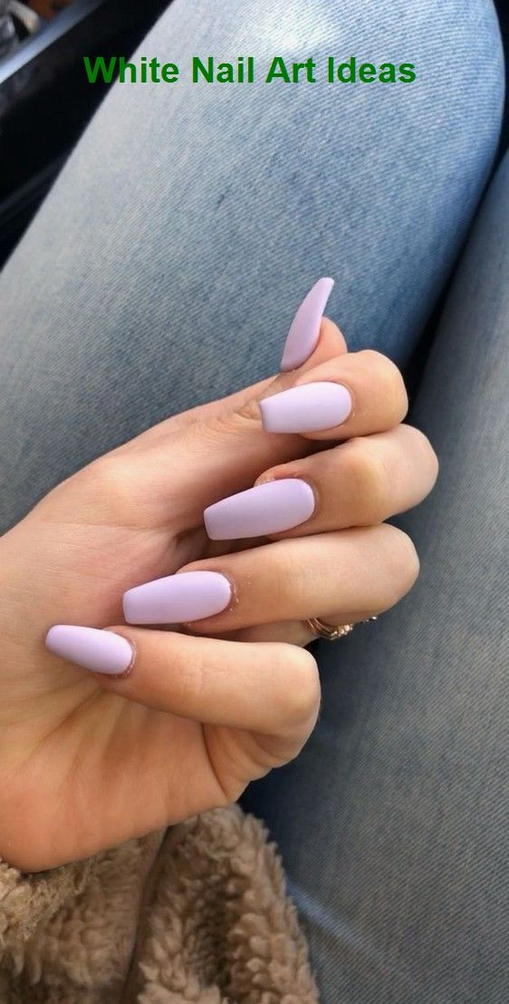 30+ Simple & Trending White Nail Design Ideas 3 #nailartideas #naildesign  # Nägel