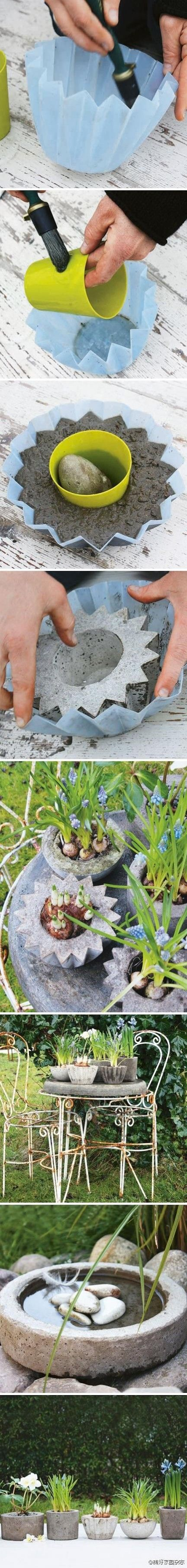 How To Make a Pot Planter From Concrete      You Should Also See :    Gardening Tips and Tricks That Everyone Should Know  Gardening Hac...