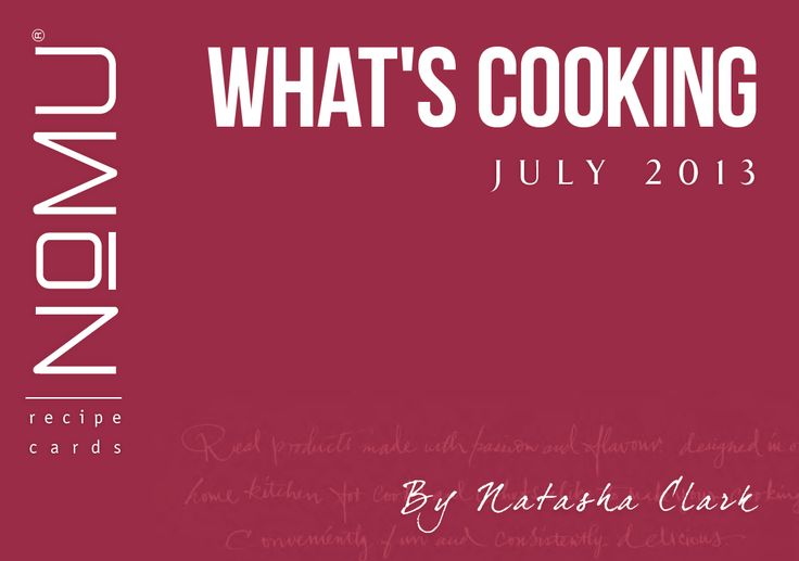 What's Cooking Recipe Cards | July 2013 | With Natasha Clark