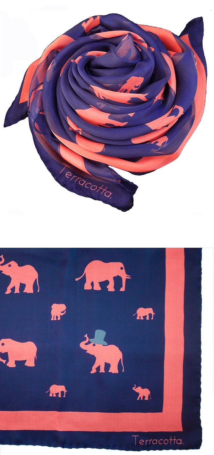 Pink Elephants Scarf