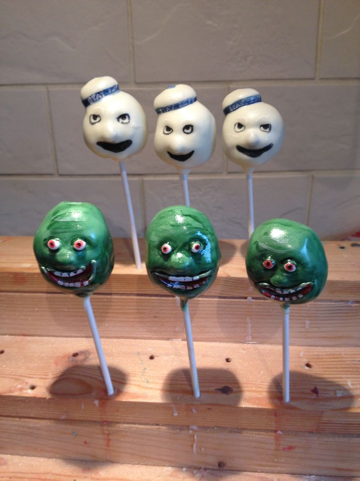 Ghostbuster Cake Pops Ghostbusters Party Pinterest