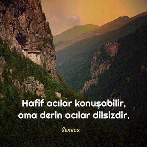 Hafif acılar konuşabilir ama, derin acılar dilsizdir. - Seneca #sözler…