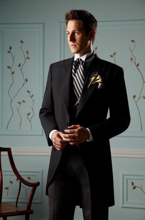 昼から夕方にかけての正礼装でクラシカル☆結婚式、花婿さんの参考にしたいモーニングのイメージ。 ウェディング・ブライダルの参考に