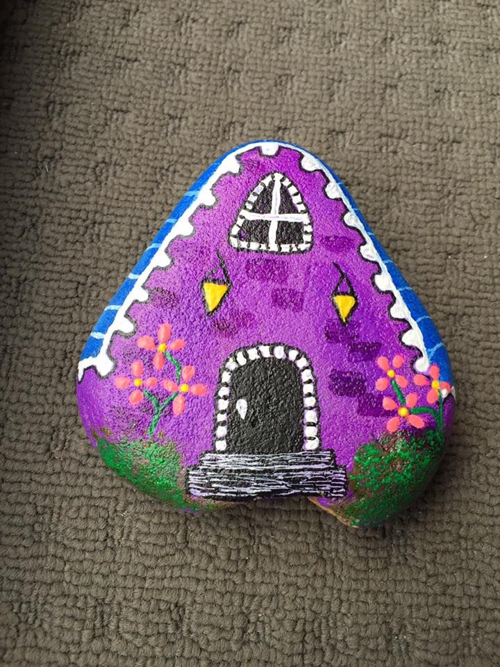 150 best images about mushroom fairy houses painted - Painting rocks for garden what kind of paint ...