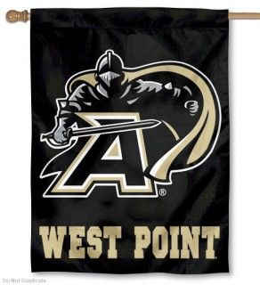 West Point House Flag measures a 30x40 inches, is made of thick polyester, has a top sleeve for insertion of a flagpole, and the NCAA...