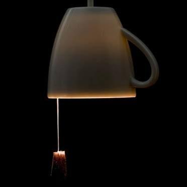 lampada a tazza *_* con on/off a infuso di té