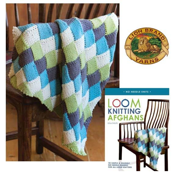 Free Loom Knitting Patterns For Blankets : Loom Knitting Afghans: Book Giveaway and New Free Pattern! Loom knitting an...