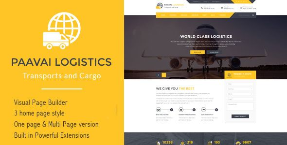 Paavai Logistics – Transport and Cargo WordPress Theme - Business Corporate